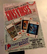 GUNS N' ROSES TICKET 'Use Your Illusion' Tour Milton Keynes Bowl 29th May 1993