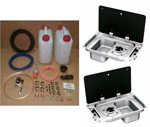 CAN SRL FL1323 Campervan Sink & Cooker / Hob Combi Unit Bundle / kit RH 10L