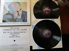 "Bruckner Symphony No 7 2* 12"" Lp Box Set  VPO Solti  Decca SET 323 - 4 UK"