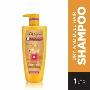 Shampoo With 6 Oil Nourish From L'Oreal Paris 1 Litre - Free Shipping Worldwide