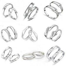 100% Genuine 925 Sterling Silver Women  Crystal Adjustable Open fashion Ring