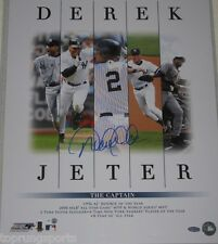 Derek Jeter Signed Yankees Career Accomplishments 16x20 Photo Steiner Sports coa