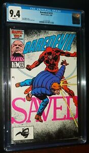 DAREDEVIL #231 1986 Marvel Comics CGC 9.4 NM White Pages !