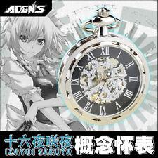 Anime TouHou Project Izayoi Sakuya Mechanical Pocket Watch Free Shipping New