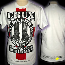 CRUX CLA SKINHEADS  100% UNIQUE  PUNK OI   T SHIRT MEDIUM BAD CLOWN CLOTHING