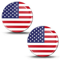3D Silicone Sticker USA Flag American Decal Car Motorcycle Helmet Logo Emblem