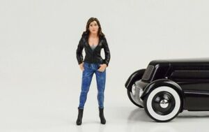 Cool Girl Rose Figurine Street Racing Crew 1:18 American Diorama No Car