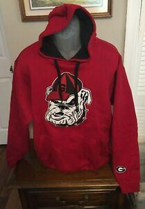 Georgia Bulldogs e5 Red Fleece Sweatshirt Hoodie Size XL NWT