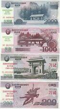 (hs) Korea 2018 Commemorative Banknote 200 500 1000 2000 Won Unc 4pcs