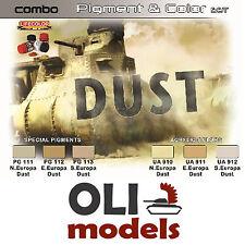 Dust Europe Afv & Diorama Color & Pigment Combo Set 6x20ml Lifecolor Spg4