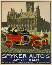 SPYKER AUTO'S AMSTERDAM DUTCH AUTOMOBILE CAR 8X10 VINTAGE POSTER REPRO FREE S/H
