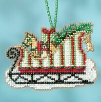 Mill Hill - Sleigh Ride - Toyland Sleigh - Cross Stitch Ornament - MH16-1733