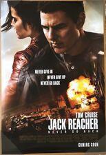 JACK REACHER NEVER GO BACK MOVIE POSTER 2 Sided ORIGINAL 27x40 TOM CRUISE
