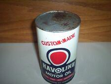 Vintage McColl-Frontenac Havoline Custom-Made Motor Oil Can Tin (1 Imp Quart)