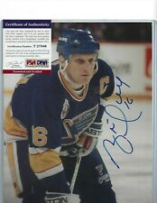 Brett Hull Autographed St Louis Blues Nhl Hockey Hofer 8x10 Photo Psa Coa