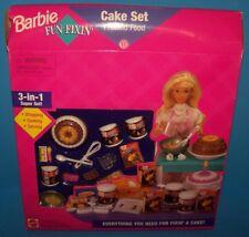 NEW Barbie Mattel 3-In-1 FUN FIXIN' CAKE SET BAKING Eggs Cooking Food Kitchen