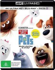 Secret Life Of Pets (4K Ultra HD/Blu-Ray/Ultraviolet,2016,2-Disc Set)(Region B)