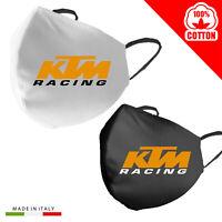 Mascherina Mascherine Personalizzata KTM Racing moto 100% Cotone adulto bambino