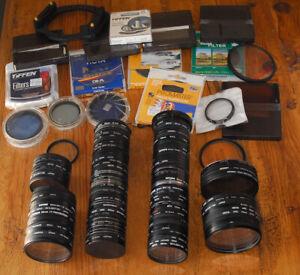 Loose Filter Stack Lot 52mm 62mm 67mm 72mm 77mm Nikon Tiffen Hoya B+W Various