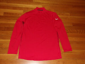 UNDER ARMOUR REACTOR COLDGEAR LONG SLEEVE MOCK FITTED JERSEY MENS LARGE EXC.