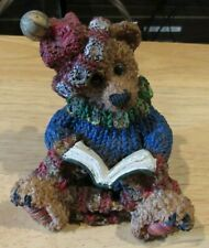 "Vintage Russ? Berry Hill? Bear Figure 4"" dressed reading"