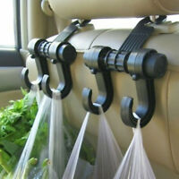 Car Headrest Seat Double Hook Hanger Holder Bag Organizer Vehicle Coat Hanger HS