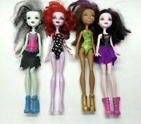 """Monster High Doll Lot Of 4 Draculaura Frankie Stein 11"""" Mattel"""