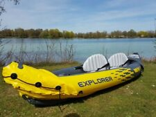 Intex Explorer K2 Kayak / Canoe ready to go - USED ONCE, COMPLETE BUNDLE