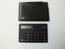 Braun AG Type 4 856 pocket credit card solar calculator