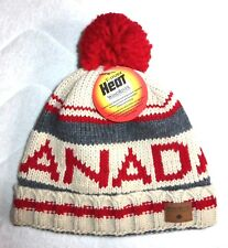 MADE IN CANADA ! BOBBLE Beanie Chunky WARM ! Wool Hat Toque UNISEX Pompom