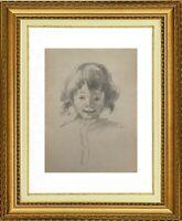 CHARLES WISLIN (1852-1932) PORTRAIT DE JEUNE FILLE VERS 1880 (1175)