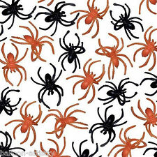 30 Halloween Horror Black Orange Spooky Spider Loot Favours Plastic Party Rings