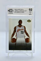 2003 Upper Deck LEBRON JAMES #12 - ROOKIE CARD RC - BECKETT BCCG 10 Mint Box Set