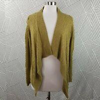 Banana Republic size Small Cable Knit Open Drape Cardigan Sweater wool blend