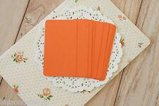 Carrot Orange blank Business Cards handmade wedding DIY save the date name card