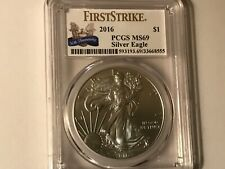 2016 First Strike PCGS MS 69 AMERICAN SILVER EAGLE