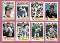 1989 TOPPS GLOSSY '88 ALL-STAR  SET 1-22 CARDS W/RIPKEN MCGWIRE CANSECO AL & NL