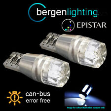 2x W5W T10 501 can bus blanco libre de errores bombillas LED para matrícula