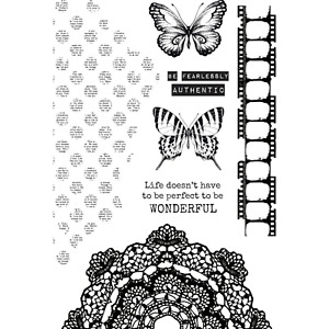 BUTTERFLY STUDIO Collection Clear Unmounted Stamp Set Kaisercraft CS340 New