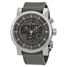 Nixon Magnacon Leather II Mens Chronograph Stingray Leather Watch A458-2146-00