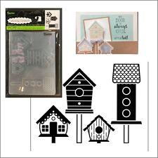 Darice embossing folders - Birdhouses Post embossing folder 1219-401 animal bird
