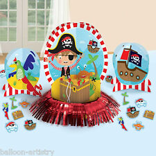 23 Piece Cute Little Pirate Children's Birthday Party Table Decorating Kit