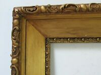 ANTIQUE   GREAT QUALITY GILT FRAME FOR PAINTING  18  X 12   OUTSIDE 25 X 19 INCH
