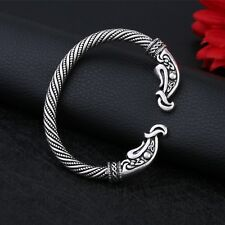 Antique Silver Plated Dragon Bracelet Steampunk Men Viking Wristband Cuff Bangle