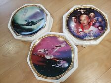 Hamilton Collection Star Trek The Motion Picture Collector's Plate Lot 3 Movies