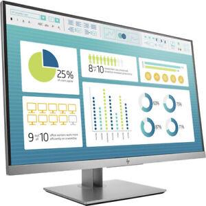 New HP EliteDisplay E273 27-Inch Screen LED-Lit Monitor Black/Silver HDMI
