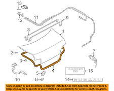 SUBARU OEM 93-01 Impreza Trunk Lid-Weatherstrip Seal 57532FA000