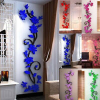 US 3D Flower Removable Vinyl DIY Wall Sticker Decal Mural Home&Room Decor DS