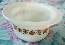 VINTAGE CORNING CORELLE PYREX GOLD BUTTERFLY BUTTER DISH MARGARINE TUB CROCK USA