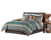 5pcs Cabin Lodge Rustic Bohemian Comforter Christmas Comforter Set Bedding McCal